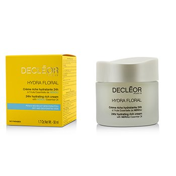 Decleor Creme hidratante Hydra Floral 24hr Hydrating Rich Cream  50ml/1.69oz