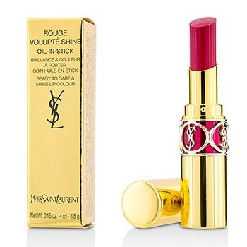 Yves Saint Laurent Rouge Volupte Shine - # 5 Fuchsia In Excess/ Fuchsia Chiffon  4.5g/0.15oz