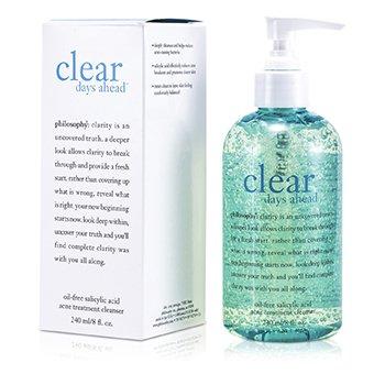 פילוסופי Clear Days Ahead תכשיר ניקוי לטיפול באקנה עם חומצה סליצילית נטול שמן  240ml/8oz