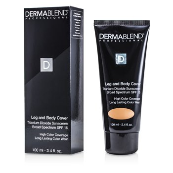 Dermablend Leg & Body Cover Broad Spectrum SPF 15 (High Color Coverage & Long Lasting Color Wear) - Medium  100ml/3.4oz