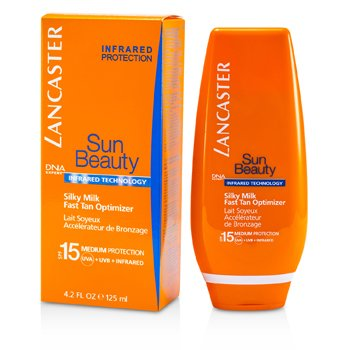 Lancaster Sun Beauty Silky Milk Optimizador Bronceado Rápido SPF 15 (Rostro y Cuerpo)  125ml/4.2oz