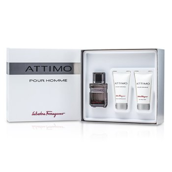 Salvatore Ferragamo Attimo Pour Homme Coffret: Eau De Toilette Spray 60ml/2oz+ Shampoo & Shower Gel 50ml/1.7oz+ After Shave Balm 50ml/1.7oz  3pcs