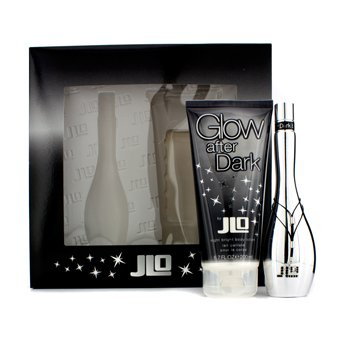 J. Lo Glow After Dark szett: Eau De Toilette spray 50ml/1.7oz + Night Bright testápoló lotion 200ml/6.7oz  2pcs