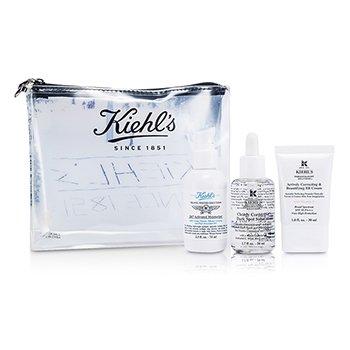 Kiehl's Set Crema BB: Crema BB + Clearly Corrective Solución Puntos Negros + 24/7 Humectante Activado  3pcs+1bag