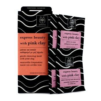 Apivita Express Beauty Máscara Limpiadora Suave con Arcilla Rosa 9946  6x(2x8ml)