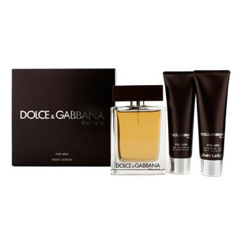 Dolce & Gabbana The One Coffret: Eau De Toilette Spray 100ml/3.4oz + B�lsamo para Despu�s de Afeitar 50ml/1.6oz + Gel de Ducha 50ml/1.6oz  3pcs