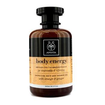 Apivita Body Energy Gel de Ba�o y Ducha Energizante con Jegibre y Naranja  300ml/10.2oz