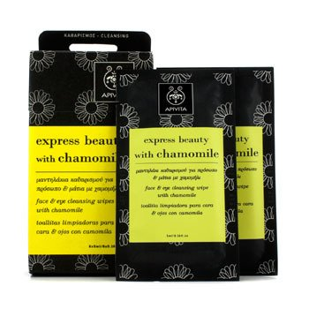 Apivita Express Beauty Face & Eye Cleansing Wipes with Chamomile - Pembersih Makeup  6x(5ml/0.16oz)