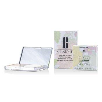 Clinique Even Better Maquillaje en Polvo SPF25 (Estuche + Repuesto) - # 66 True Beige (M-N)  10g/0.35oz