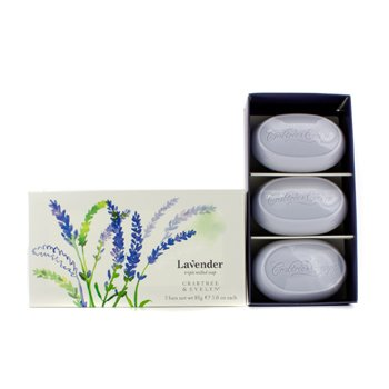 Crabtree & Evelyn Lavender Triple Milled Soap  3x85g/3oz