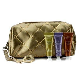 Clarins Kit Soft Cream Eye Color: #03 Sage, #05 Lilac, #08 Burnt Orange (com Bolsa de Cosméticos Dourada)  3pcs+1bag