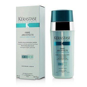 Kerastase Serum odnawiające do włosów Resistance Fibre Architecte Renovating Dual Serum (do włosów bardzo zniszczonych, o rozdwojonych końcówkach)  30ml/1.01oz
