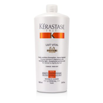 Kerastase Condicionador Nutritive Lait Vital Incredibly Light - Exceptional Nutrition Care (Cabelos Normais á Levemente Secos)  1000ml/34oz