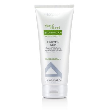 AlfaParf Semi Di Lino Reconstruction Reparative Mask (For Damaged Hair)  200ml/6.76oz