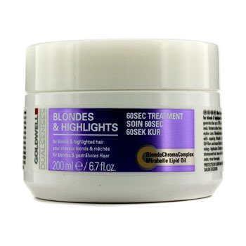 Goldwell Dual Senses Blondes & Highlights 60 Sec Treatment (For Blonde & Highlighted Hair)  200ml/6.7oz