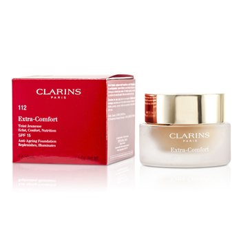 Clarins Extra Comfort Foundation SPF15 - # 112 Amber  30ml/1.1oz