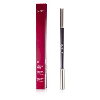 Clarins Long Lasting Eye Pencil with Brush - # 02 Intense Brown  1.05g/0.037oz
