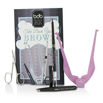 Billion Dollar Brows Take Back Your Brows Kit: 1x Brow Buddy, 1x Universal Brow Pencil, 1x Tweezers, 1x Scissors  4pcs