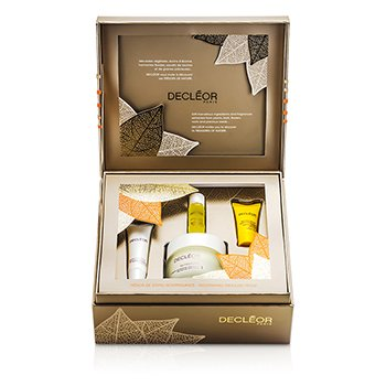 Decleor Zestaw Nourishing Treasure Trove: odżywczy krem 50ml + balsam do ust 10ml + serum 5ml + balsam na noc 2.5ml  4pcs