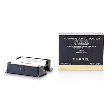 Chanel Vitalumiere Compact Douceur Lightweight Compact Makeup SPF 10 (Refill) - # 12 Beige Rose  13g/0.45oz