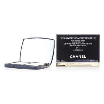 Chanel Vitalumiere Compact Douceur Lightweight Compact Makeup SPF 10 - #22 Beige Rose  13g/0.45oz