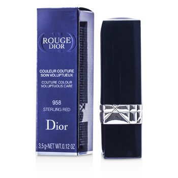Christian Dior Rouge Dior Couture Colour Cuidado Voluptuoso - # 958 Sterling Red  3.5g/0.12oz