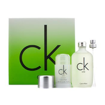 Calvin Klein CK One Coffret: Eau De Toilette Spray 100ml/3.4oz + Deodorant Stick 75g/2.6oz  2pcs