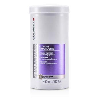 Goldwell Dual Senses Blondes & Highlights Tratamiento Intensivo - Para Cabello Rubio e Iluminado (Producto de Sal�n)  450ml/15.2oz