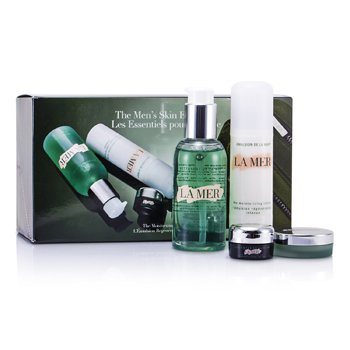 La Mer Essentials Set: Cleansing Gel 100ml + Moisturizing Lotion 50ml + Eye Concentrate 5ml + Lip Balm 9g + Bag  4pcs+1bag