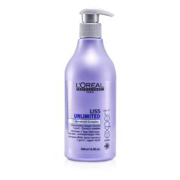 L'Oreal Shampoo Professionnel Expert Serie - Liss Unlimited Smoothing (Para Cabelo Rebelde)  500ml/16.9oz