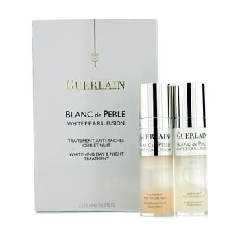 Guerlain Blanc De Perle White P.E.A.R.L. Fusion Whitening Day & Night Treatment  2x15ml/0.5oz