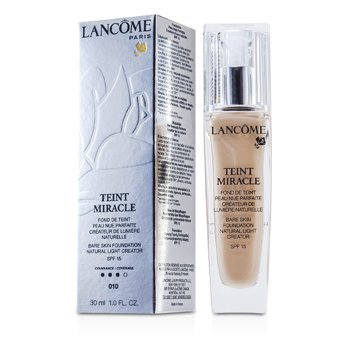 Lancôme Teint Miracle Bare Skin Foundation Natural Light Creator SPF 15 - # 010 Beige Porcelaine  30ml/1oz