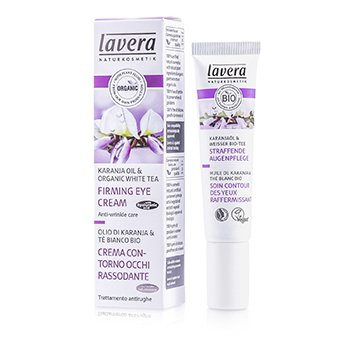 Lavera Faces Crema de Ojos Reafirmante Aceite de Karanja & Té Blanco Orgánico  15ml/0.5oz