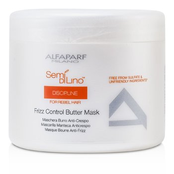 AlfaParf Semi Di Lino Discipline Máscara Manteca Control de Frizz (Para Cabello Rebelde)  500ml/17.28oz