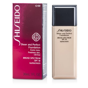 Shiseido Base Sheer & Perfect SPF 18 - # O00 Very Light Ochre  30ml/1oz