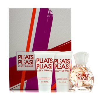 Issey Miyake Pleats Please Coffret: Edt Spray 50ml/1.6oz + Loción Corporal Hidratante 50ml/1.6oz + Gel de Ducha Hidratante 50ml/1.6oz  3pcs