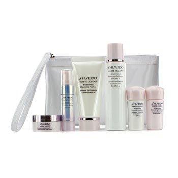 Shiseido Set White Lucent: Espuma Limpiadora 50ml + Suavizante 75ml + Suero 9ml + Emulsión 15ml + Emulsión SPF 15 15ml + Crema 18ml + Bolso  6pcs+Bag