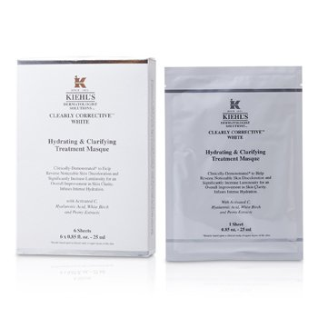 Kiehl's Clearly Corrective White Hydrating & Clarifying Treatment Masque (6 Sheets) - Masker  6x25ml/0.85oz