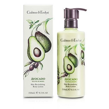 Crabtree & Evelyn Avocado, Olive & Basil Skin Revitalising Body Lotion  250ml/8.5oz