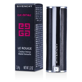 Givenchy Le Rouge Intense Color Sensuously Mat Lipstick - # 108 Beige Deshabille (Genuine Leather Case)  3.4g/0.12oz