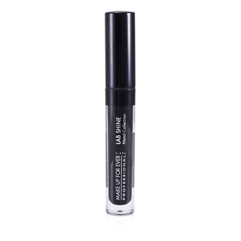 Make Up For Ever Lab Shine Metal Collection Chrome Lip Gloss - #M0 (Onyx) (Unboxed)  2.6g/0.09oz