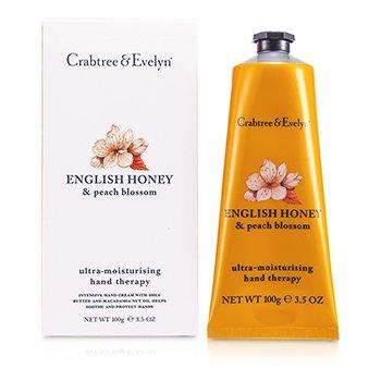 Crabtree & Evelyn English Honey & Peach Blossom Ultra-Moisturising Hand Therapy  100g/3.5oz