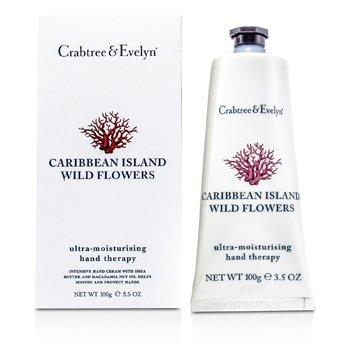 Crabtree & Evelyn Terapie Ultra-Hidratantă pentru Mâini cu Flori Sălbatice din Insulele Caraibe  100g/3.5oz