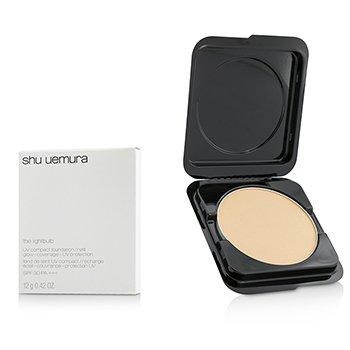 שו אמורה The Lightbulb UV Compact Foundation SPF30 Refill - # 354 Medium Amber – מילוי לפאונדיישן דחוס  12g/0.42oz