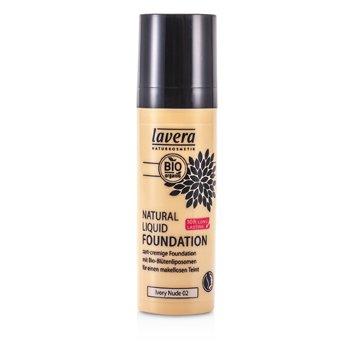 Lavera Natural Liquid Foundation (10H Long Lasting) - Alas Bedak - # 02 Ivory Nude  30ml/1oz