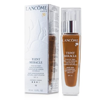 Lancome Teint Miracle Bare Skin Foundation Natural Light Creator SPF 15 - # 10 Praline  30ml/1oz