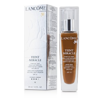 Lancome Teint Miracle Rozjasňujúci make-up pre nahé líčenie SPF 15 – 11 Muscade  30ml/1oz