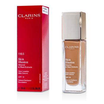 Clarins Podkład z ochronnym filtrem Skin Illusion Natural Radiance Foundation SPF 10 - # 110.5 Almond  30ml/1.1oz
