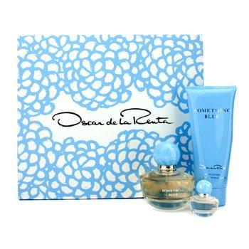 Oscar De La Renta Kit Something Blue: Eau De Parfum Spray 50ml/1.7oz + Loção Para Corpo 100ml/3.4oz + Eau De Parfum Miniature 4ml/0.13oz  3pcs