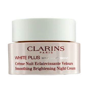 Clarins White Plus Total Luminescent Smoothing Brightening Night Cream  50ml/1.7oz